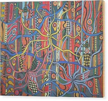 Senderos #6 Wood Print