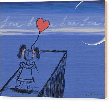 Sending Love Wood Print