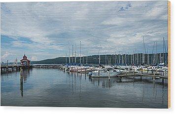 Seneca Lake Harbor - Watkins Glen - Wide Angle Wood Print
