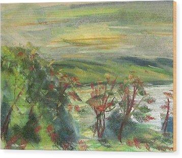 Seneca Lake Summer Morning Wood Print