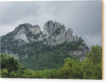 Seneca Rock Wood Print