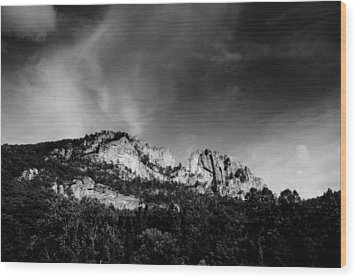 Seneca Rocks Wood Print
