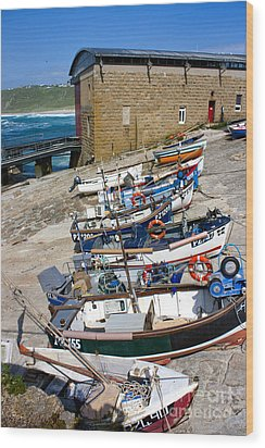 Sennen Cove Fishing Fleet Wood Print
