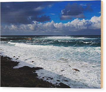 Sennen Cove In Cornwall Wood Print by Louise Heusinkveld