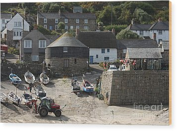 Sennen Cove Wood Print by Linsey Williams