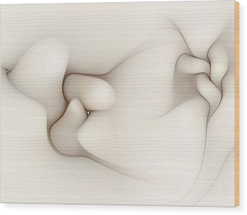 Wood Print featuring the digital art Sensual Manifestations 4 by Casey Kotas