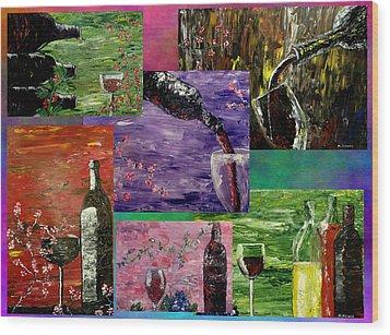 Sensual Wine  Wood Print by Mark Moore