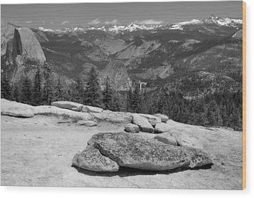 Sentinel Dome Wood Print by Stephen  Vecchiotti