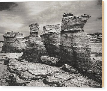 Wood Print featuring the photograph Sentinel Rocks by Arkady Kunysz