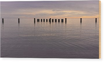 Sentinels Wood Print by Adam Romanowicz