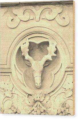 Sepia Reindeer Wood Print by Sonali Gangane