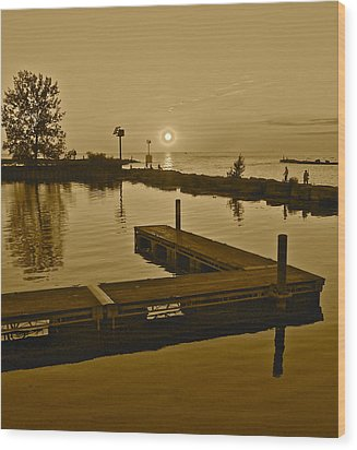 Sepia Sunset Wood Print by Frozen in Time Fine Art Photography