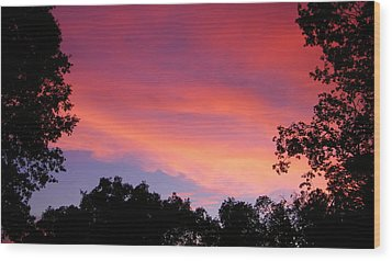 September Color Wood Print by Tom Mansfield