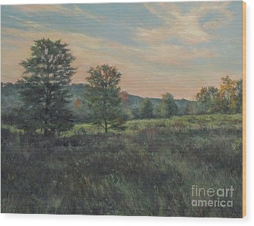 September Meadow Wood Print by Gregory Arnett