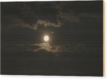 Wood Print featuring the photograph September Moonlight by Emmy Marie Vickers