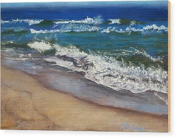 Wood Print featuring the painting September On Nantucket by Cindy Plutnicki