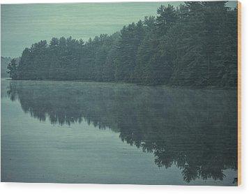 September Reflection Wood Print by Karol Livote