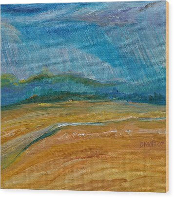September Storm Wood Print by Dawn Vagts