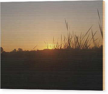 Wood Print featuring the photograph September Sunset by Teresa Schomig