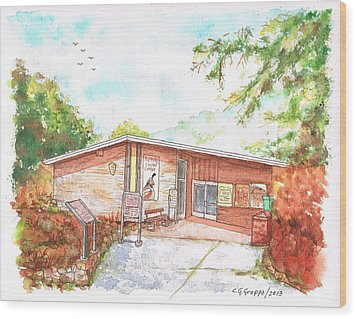 Sequoia National Park - Foothills Visitor Center - Califoernia Wood Print by Carlos G Groppa