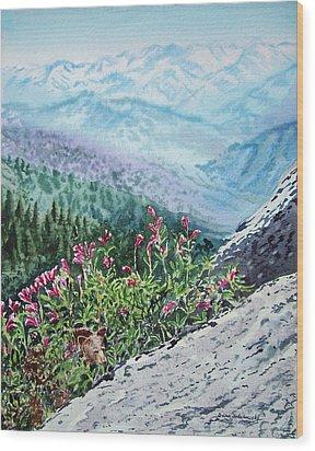 Sequoia National Park Wood Print by Irina Sztukowski