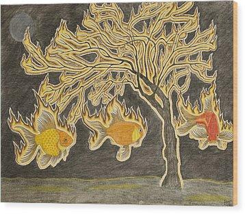 Seraphim Wood Print by Sean Mitchell