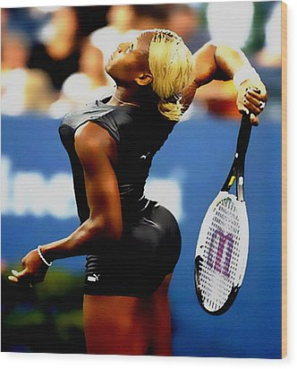 Serena Williams Catsuit II Wood Print