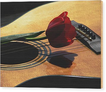 Wood Print featuring the photograph Serenade by Angela Davies
