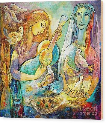 Serenade Wood Print by Shijun Munns