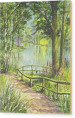 Wood Print featuring the painting Serendipity Stroll by Carol Wisniewski