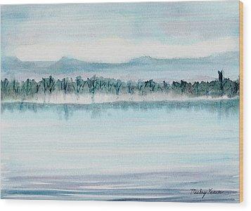 Serene Lake View Wood Print by Mickey Krause