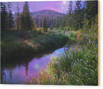 Serene Mountain Moment Wood Print