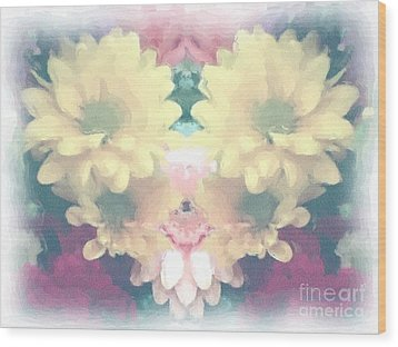 Wood Print featuring the photograph Serene Zinnias by Luther Fine Art
