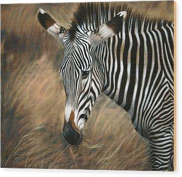 Serengeti Zebra Wood Print by Carol McCarty