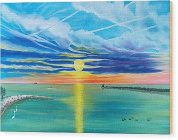 Serenity Bay Wood Print by Kathern Welsh