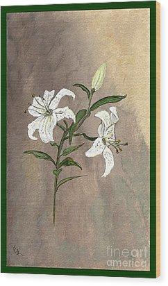 Serenity Wood Print by Ella Kaye Dickey