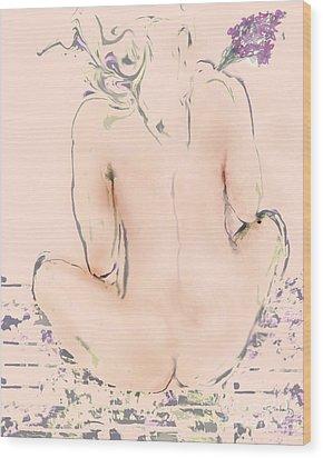 Wood Print featuring the digital art Serenity by Gabrielle Schertz