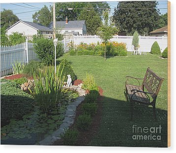 Wood Print featuring the photograph Serenity Gardens by Margaret Newcomb