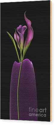 Serenity In Purple Wood Print