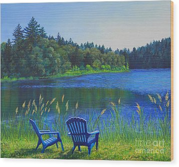 Wood Print featuring the painting Serenity by Jeanette French