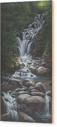 Serenity Wood Print by Kim Lockman
