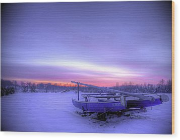 Wood Print featuring the photograph Serenity On A Sea Of Snow by Micah Goff