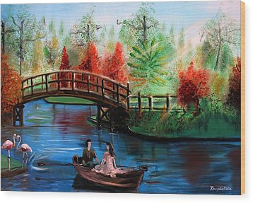 Serenity Wood Print by Rom Galicia