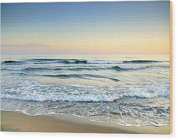 Serenity Sea Vintage Wood Print by Guido Montanes Castillo