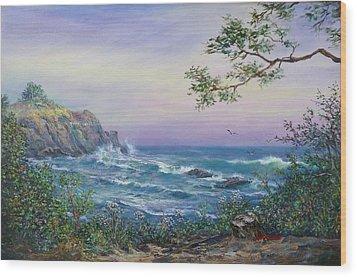 Serenity Seascape  Wood Print by Gracia  Molloy