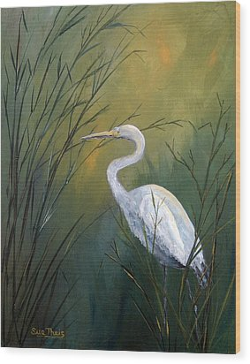 Wood Print featuring the painting Serenity by Suzanne Theis