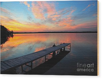 Wood Print featuring the photograph Serenity by Terri Gostola