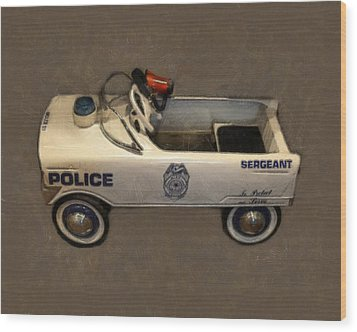 Sergeant Pedal Car Wood Print by Michelle Calkins