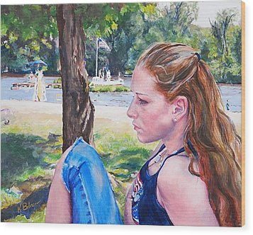 Serious Moment Wood Print by Kay Bohren