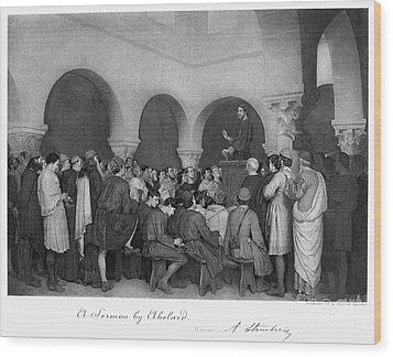 Sermon By Abelard Wood Print by Granger
